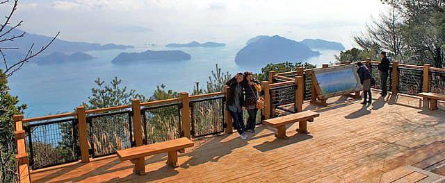 神峰山 第二展望台からの景色 ワイド