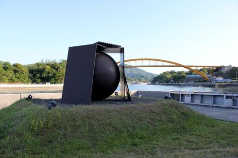 生口島 島ごと美術館 球を包む幕舎