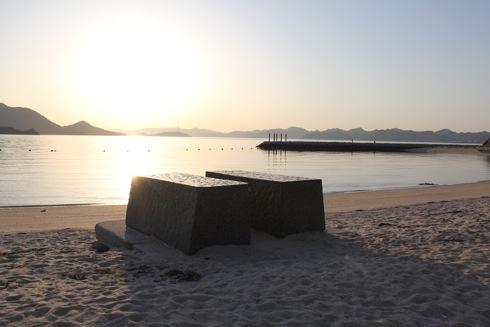 生口島 島ごと美術館 寝そべり石