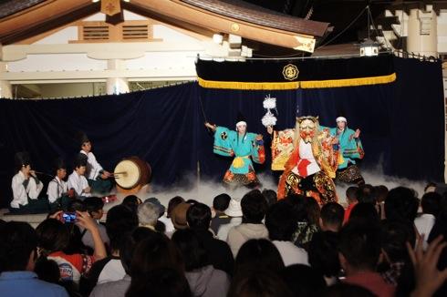 広島護国神社 万灯みたま祭 神楽競演大会1