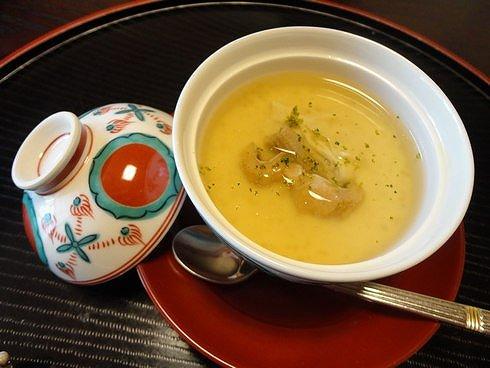 廿日市 山茶花(さざんか) 茶碗蒸し 画像1