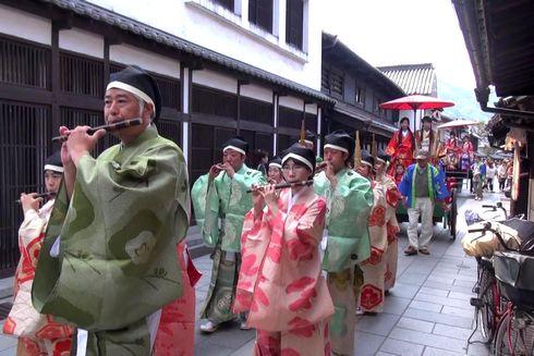 たけはら竹まつり かぐや姫パレードの画像