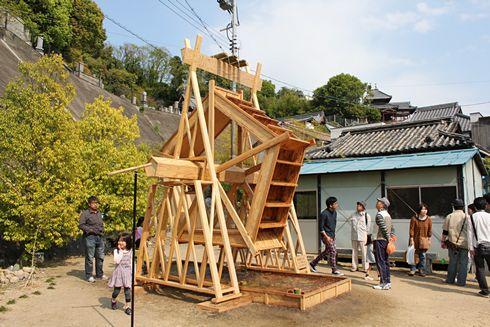 たけはら竹まつり 水車の画像