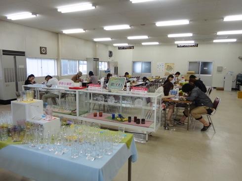 広島 ガラスの里 体験コーナー2