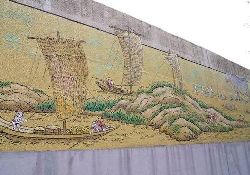広島拘置所の壁画、200メートルの巨大絵巻