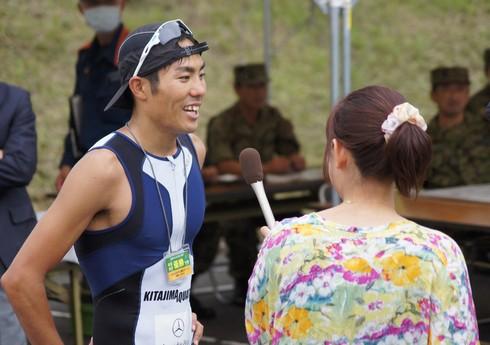 宮島 トライアスロン2013 優勝の山本良介