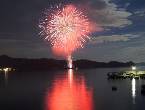 くらはし遣唐使船まつり 花火の写真3