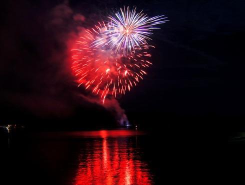 くらはし遣唐使船まつり 花火の写真4