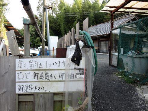 東広島市のライダーハウス、旅の宿 ルート375 看板に…