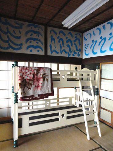 東広島市のライダーハウス、旅の宿 ルート375 二段ベットも