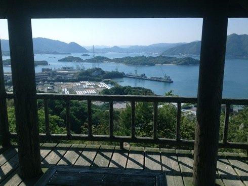 因島 白滝山の中腹展望台からの画像2
