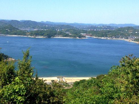 因島 白滝山の中腹展望台からの画像1