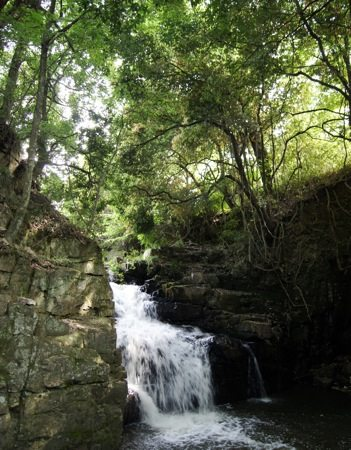 わにぶちの滝(鰐淵の滝)、恋の伝説が残る 避暑スポット