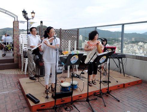 グランヴィア広島 ビアガーデン 生演奏