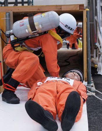 全国消防救助技術大会 広島 ほふく救出2