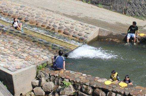 江の川カヌー公園さくぎ ウォータースライダー