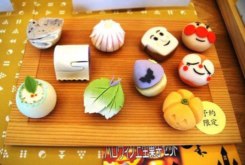 和菓子 神楽、アンパンマンなどキャラクターの和菓子の注文も可能