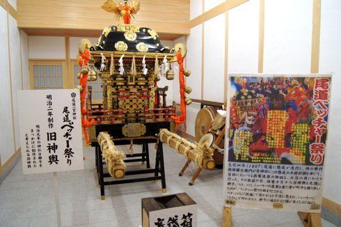 尾道 ベッチャー祭りの御旅所(おたびしょ) 神輿の画像