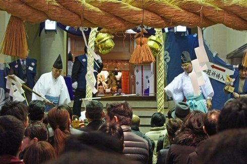えびす講(胡子大祭)2013 参拝の様子