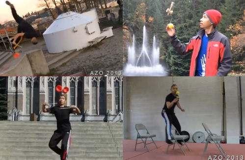 AZOの身体能力と技の数々の動画