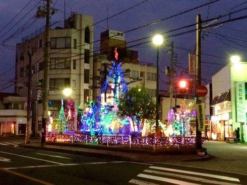 大竹駅前イルミネーション 全体像 画像