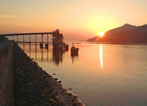 宮島からの朝日の画像8