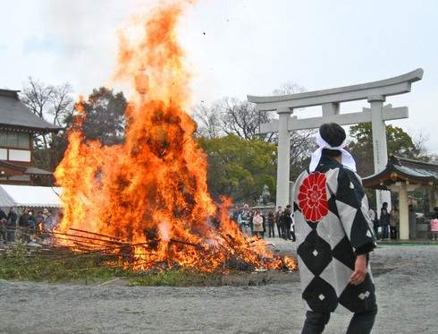 広島県 とんど祭 2019!古いお守りや正月飾りを お焚き上げ