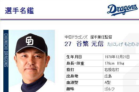 中日の谷繁監督が、広島県庄原市の市民栄誉賞を受賞 「とても光栄」