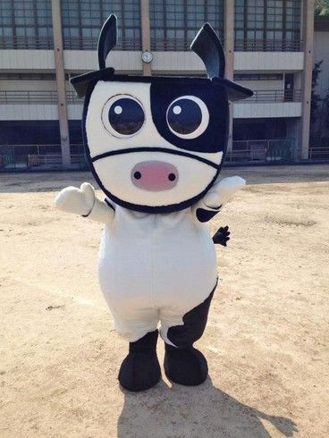 ハツラツはっちゃん、広島県廿日市市で牛のゆるキャラ 着ぐるみがお披露目