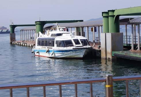 艦船めぐりで使う、小さなボート