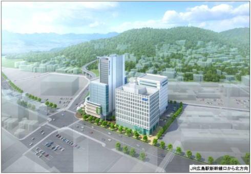 広島テレビが広島駅北口に! 二葉の里地区完成予想図など全容明らかに