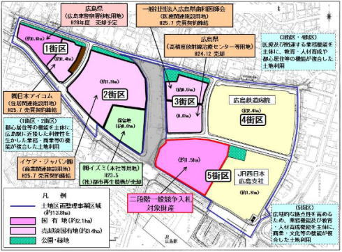 二葉の里 区画別地図
