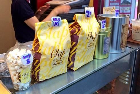 広島のポップコーン専門店 サイズは5種類