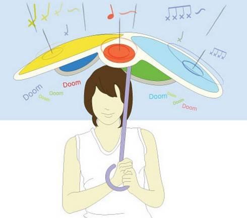 おもしろ傘 レインドラム