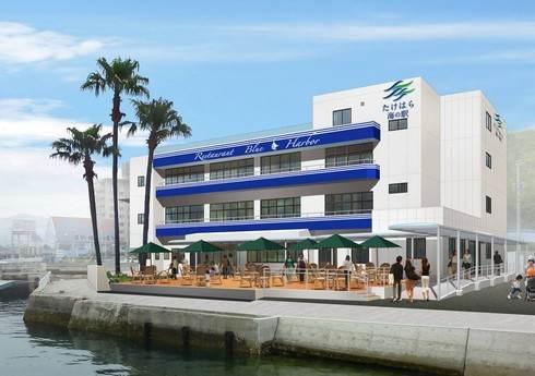 たけはら海の駅 8月1日オープン、竹原港北崎旅客ターミナルが新しく