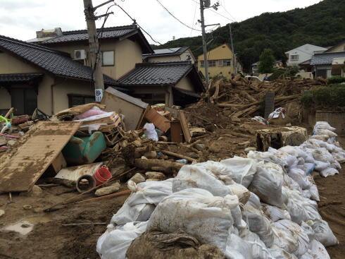 広島土砂災害 現場の写真2