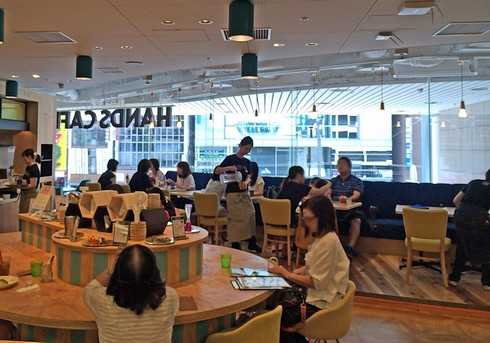 ハンズカフェ広島店、店内の様子