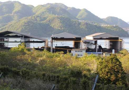 高根島の造船所