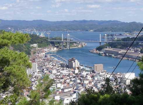 尾道市、千光寺山からの眺め