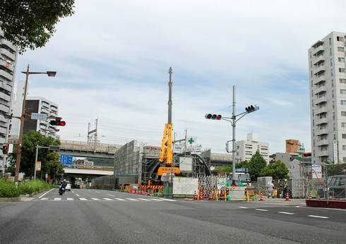 JR白島新駅 工事の様子
