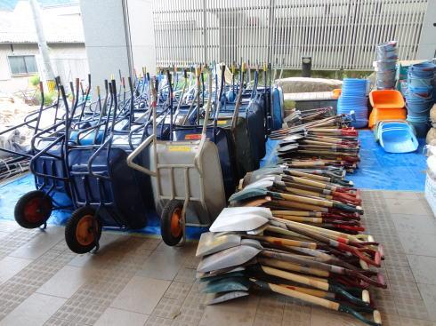 ボランティア本部の備品たち