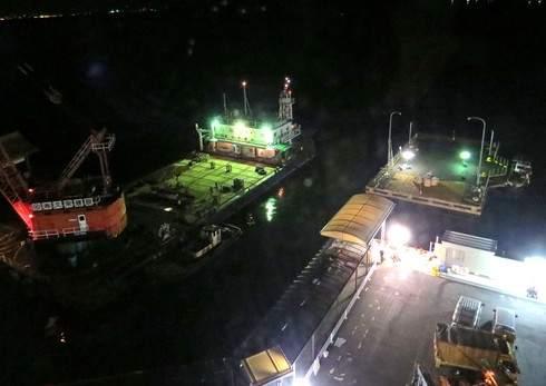 新しい宮島口のJR桟橋