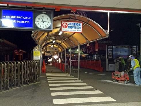 JR宮島口桟橋の入口