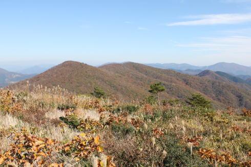 毛無山から比婆山連峰
