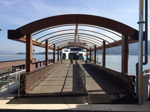 松大汽船の新桟橋