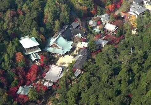 紅葉谷や大聖院を空から眺める遊覧飛行