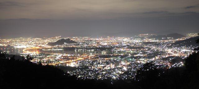 広島の夜景スポット 串掛林道