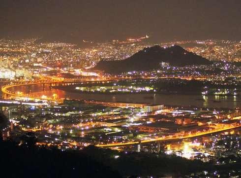 広島で一番綺麗な夜景スポットからのパノラマビュー