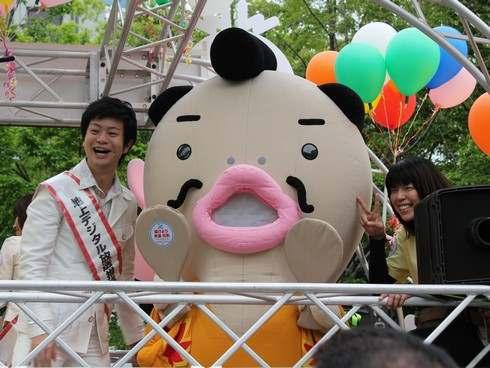 NHK広島のキャラクター しゃもべえ