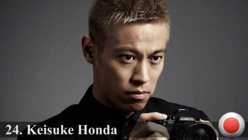 世界ハンサムランキング 2014、24位に本田圭佑